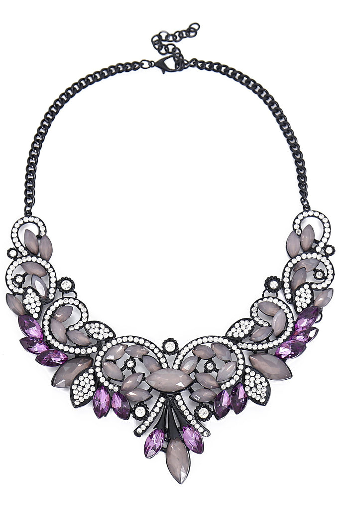 Paola Necklace - Purple / Black