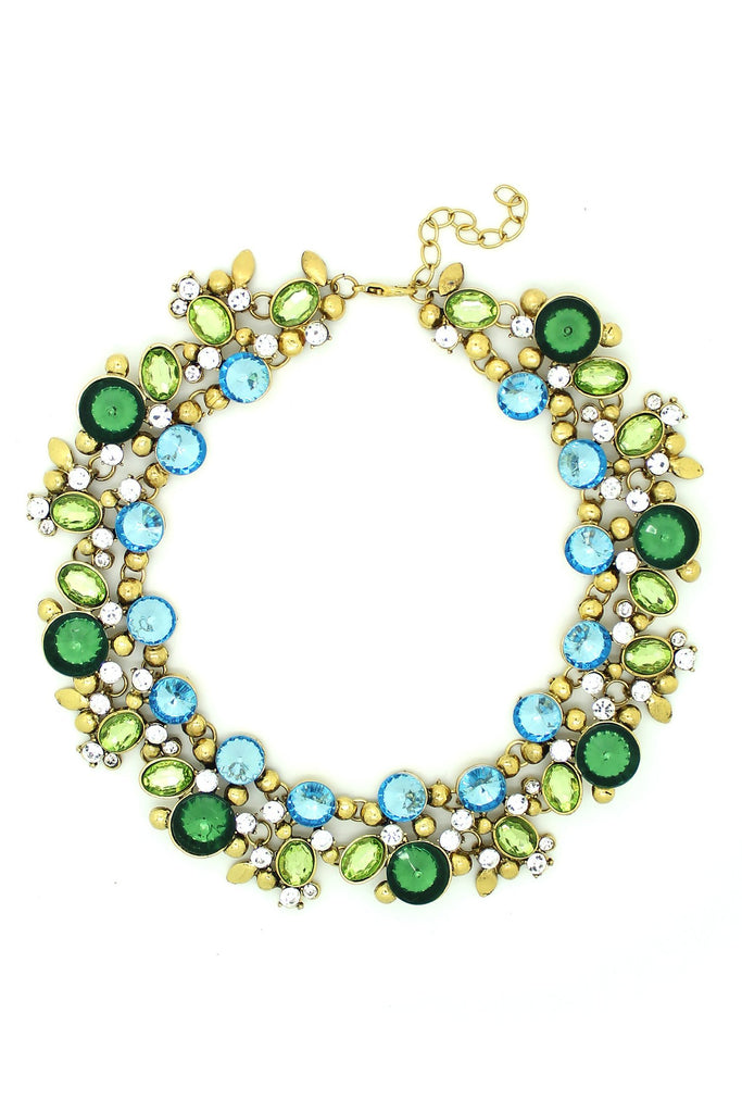 Alta Necklace - Green/Blue