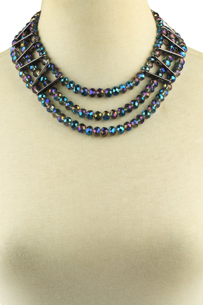 Amsterdam Statement Necklace - Dark