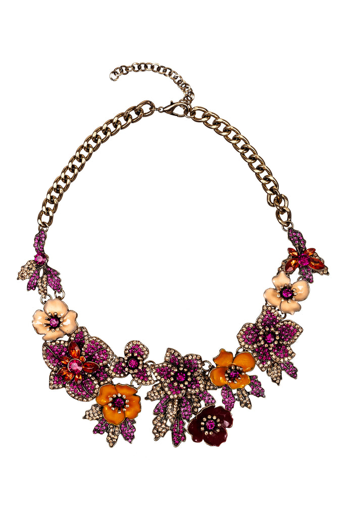 Amata Statement Necklace - Magenta