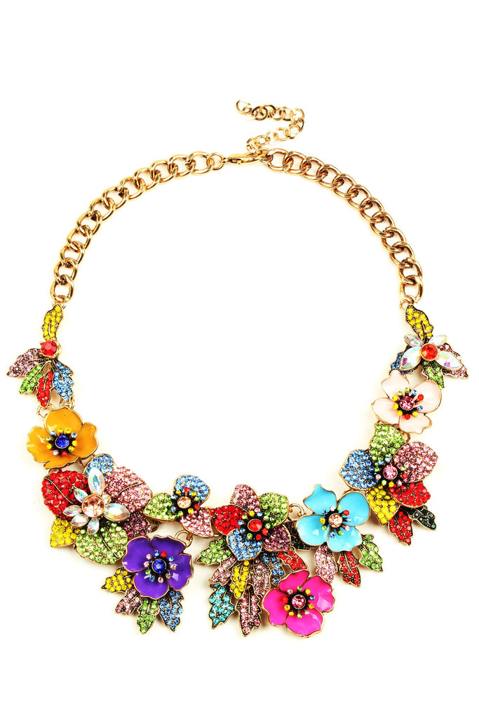 Amata Statement Necklace - Floral
