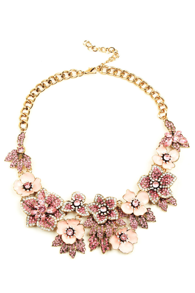 Amata Statement Necklace - Pink