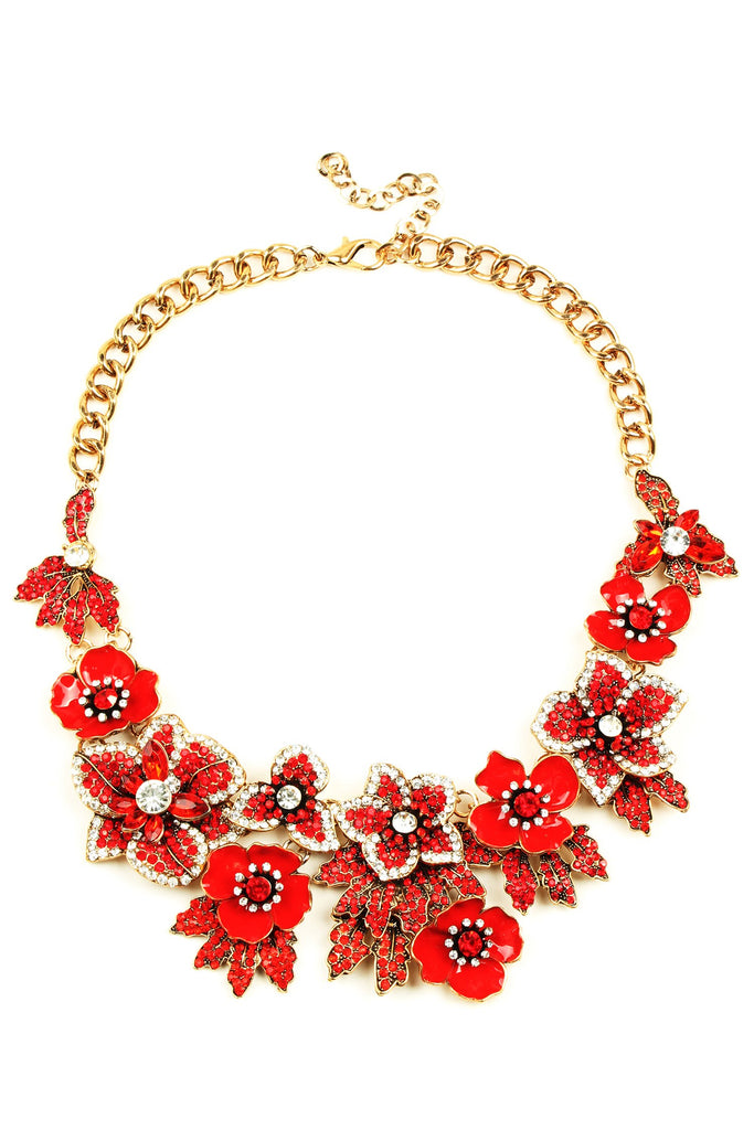 Amata Necklace - Red