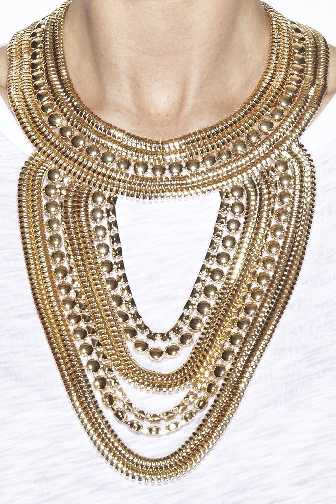 Cleo Statement Necklace - Gold