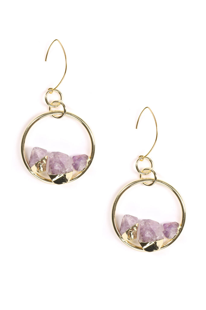 Zola Amethyst Hoop Earrings