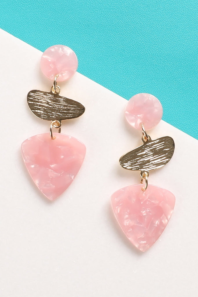 Amy Earrings - Pink
