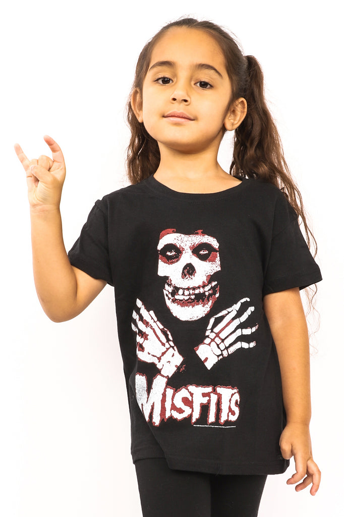 Kid's Misfits T-Shirt - Hands - Black (Boys and Girls)