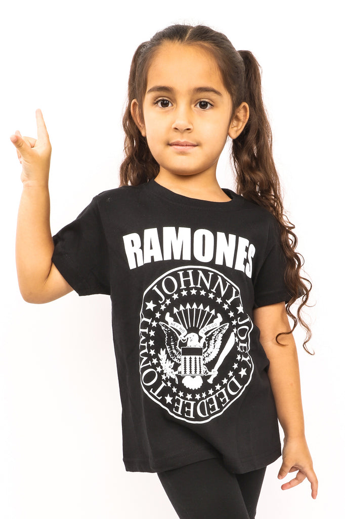 Kid's Ramones T-Shirt - Logo - Black (Boys and Girls)