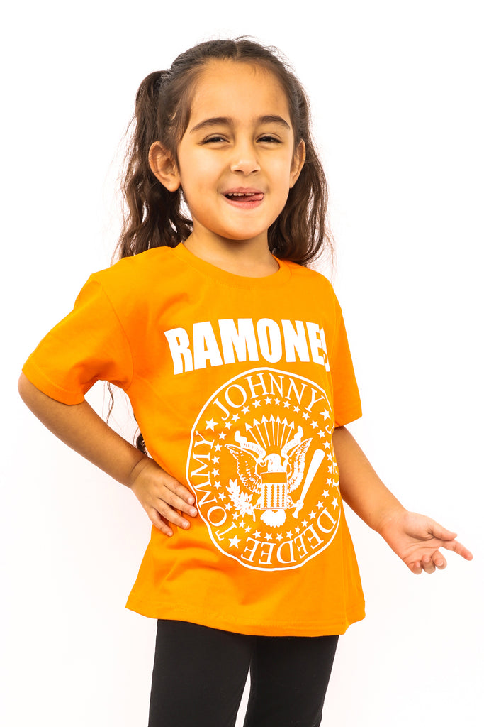 Kid's Ramones T-Shirt - Logo - Orange (Boys and Girls)