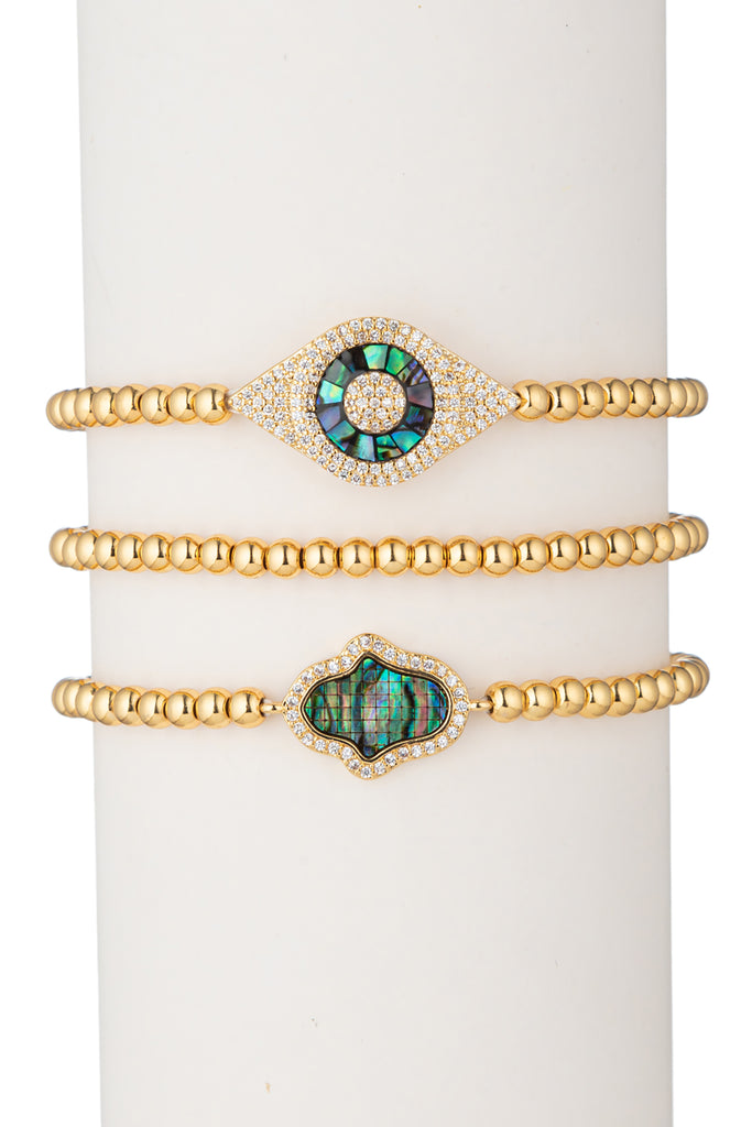 Laila Beaded Bracelet Set - Gold