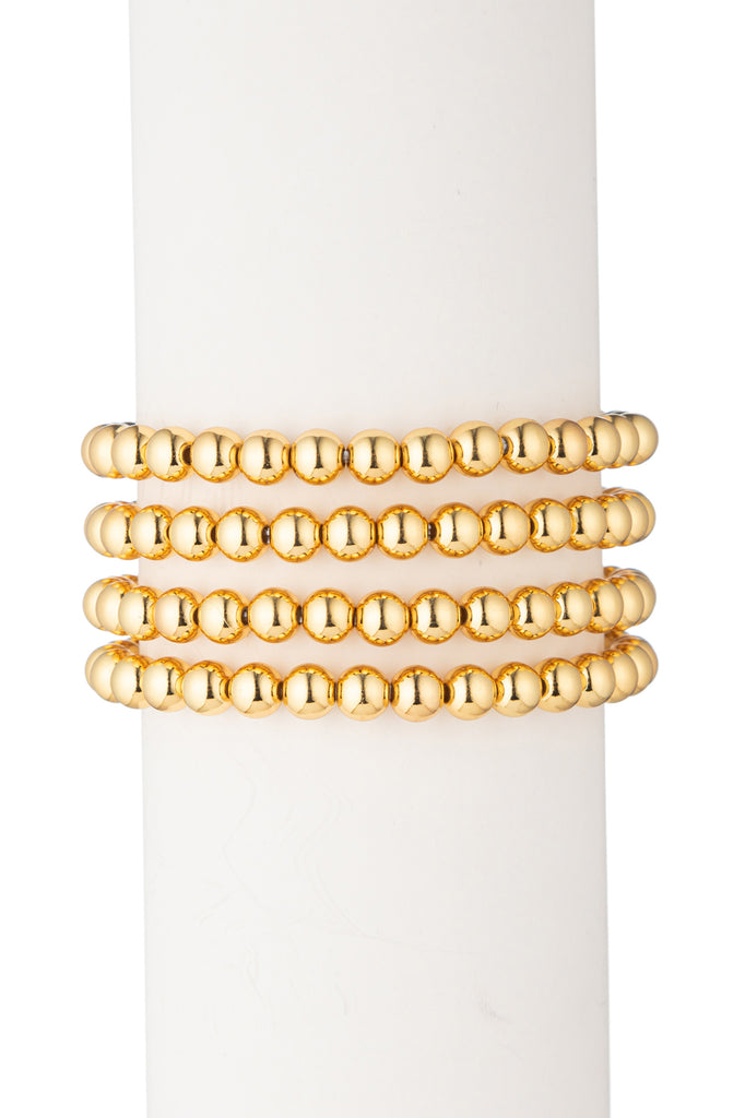 Sophia Beaded Bracelet Set - Gold