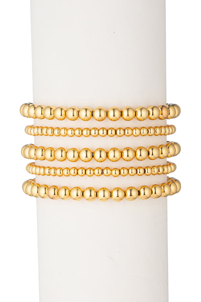 Emma Beaded Bracelet Set - Gold