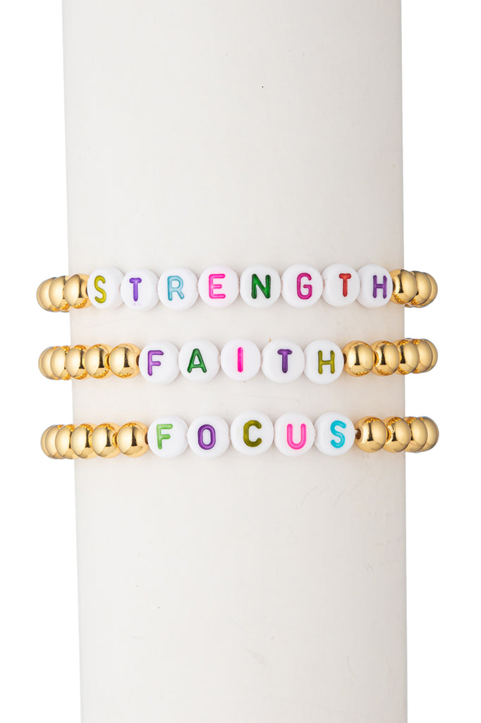 Strength | Faith | Focus - Bracelet Set