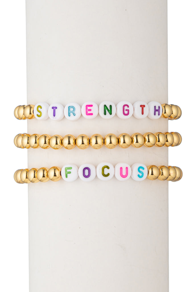 Strength | Focus - Bracelet Set