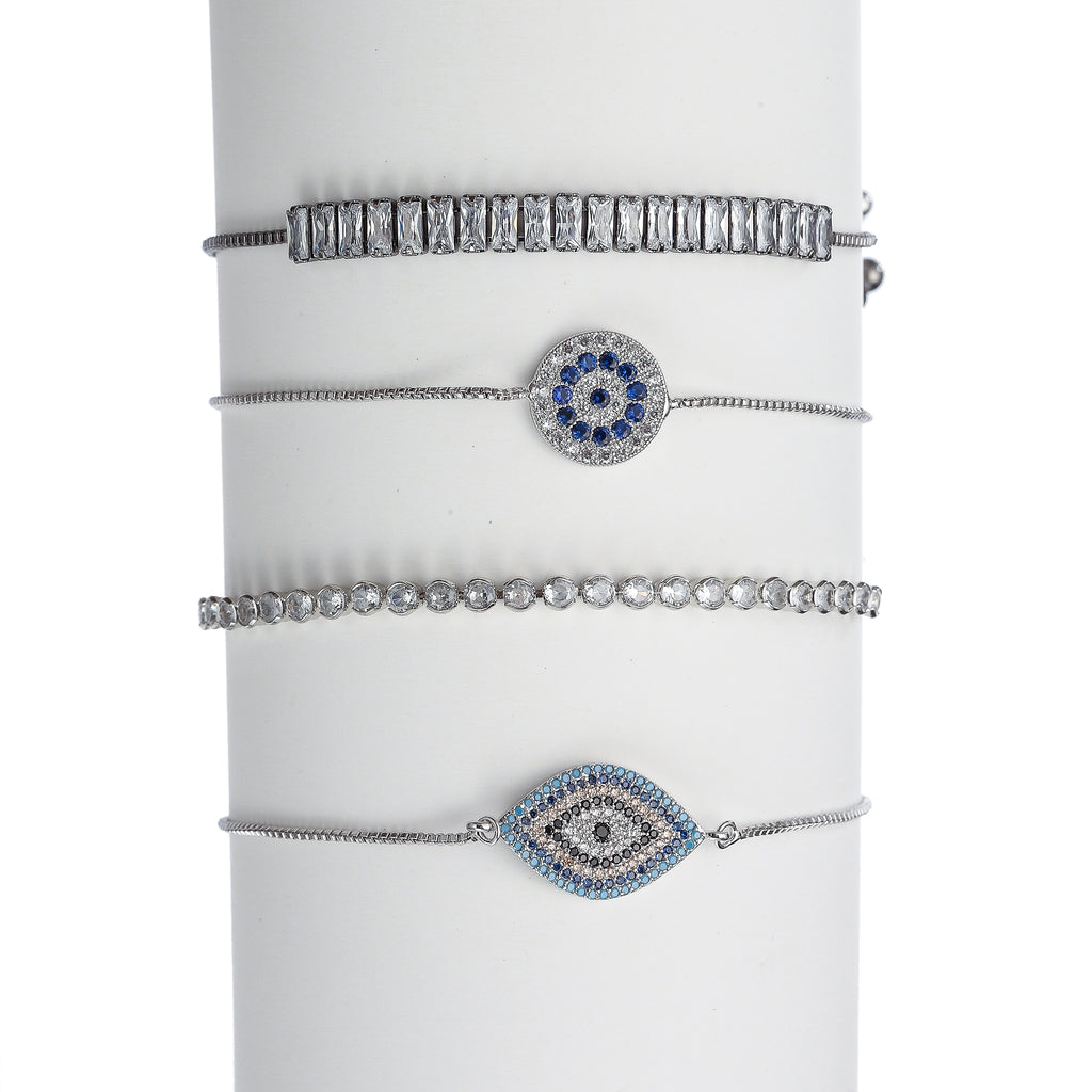 Nevin Evil Eye 4 Piece Bracelet Set