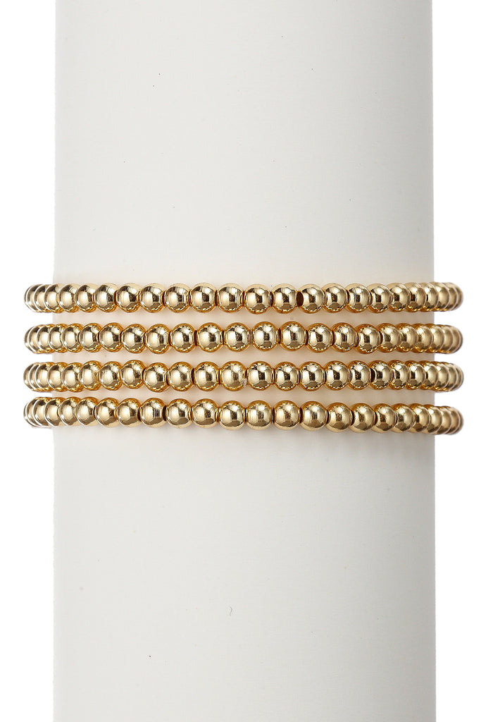 Noah Beaded Bracelet Set - Gold