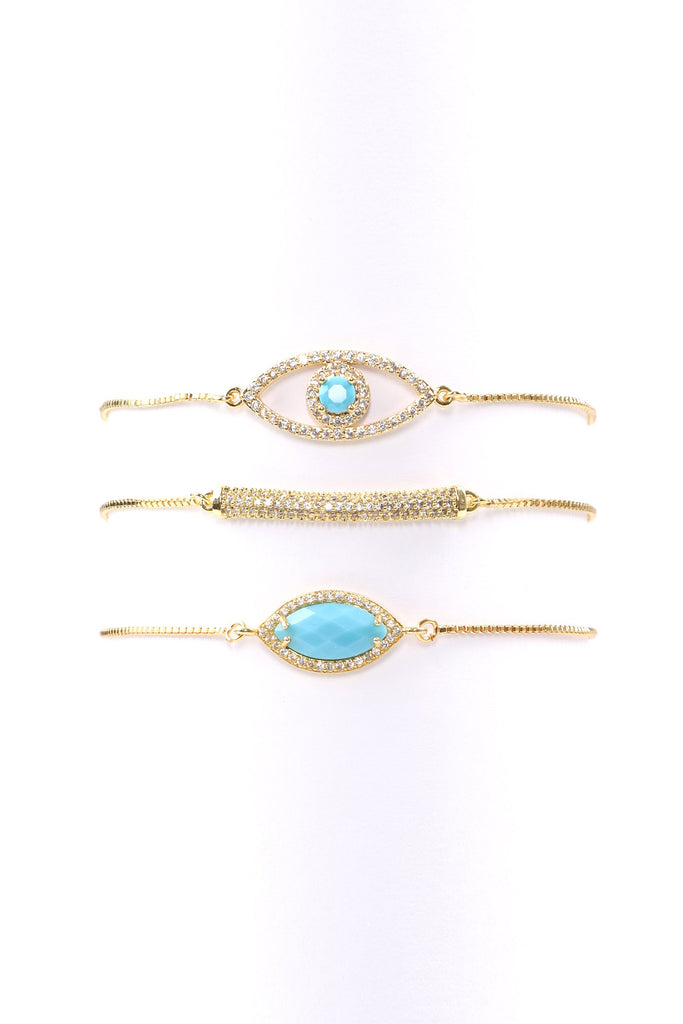 Soledad Evil Eye Bracelet Set