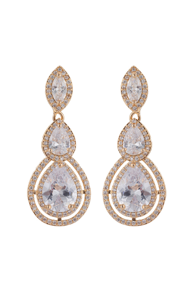 Alsie 18K Gold Plated Drop Earrings