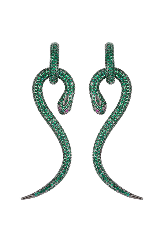 Boa Earrings - Green