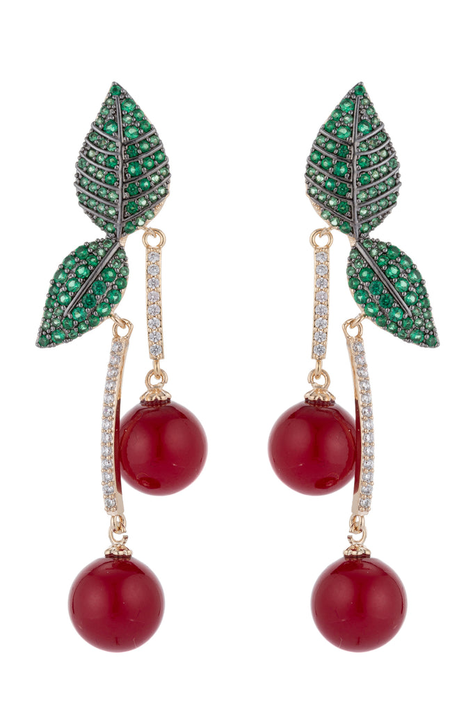 Cerise CZ Earrings