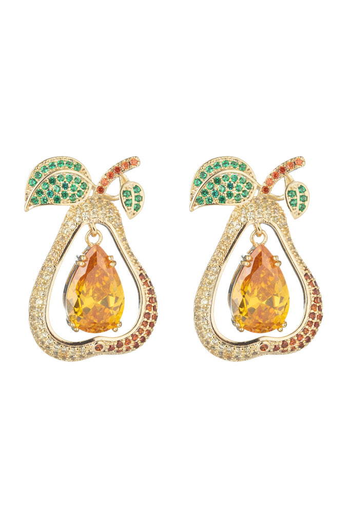 Pear CZ Earrings