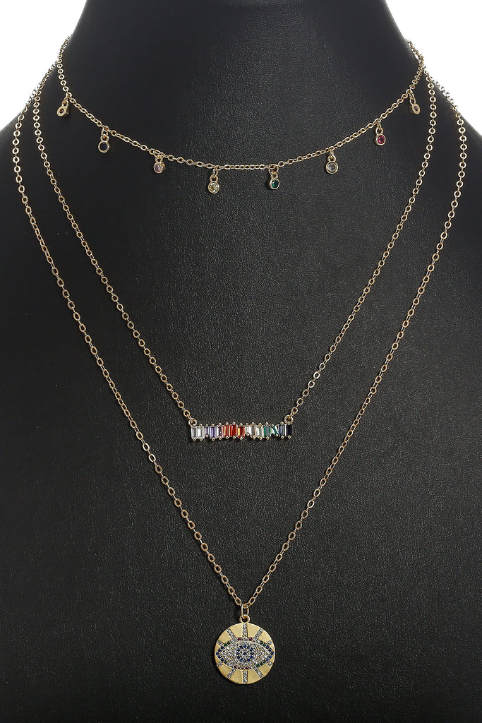 Zien Layered Necklace Set