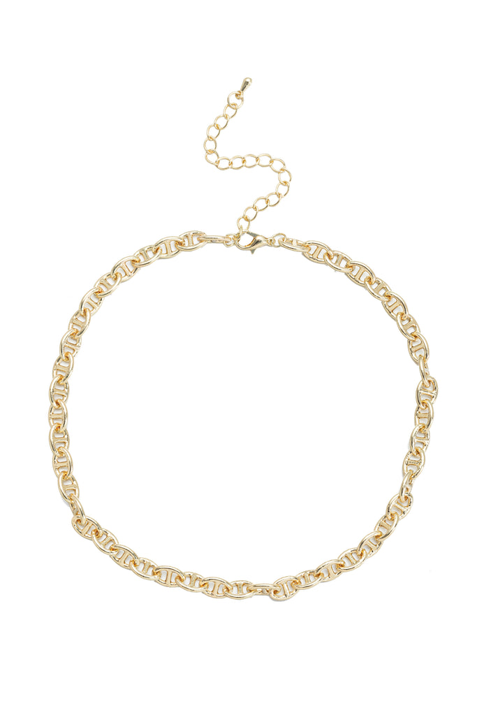 Mini Neptune mariner gold chain necklace.