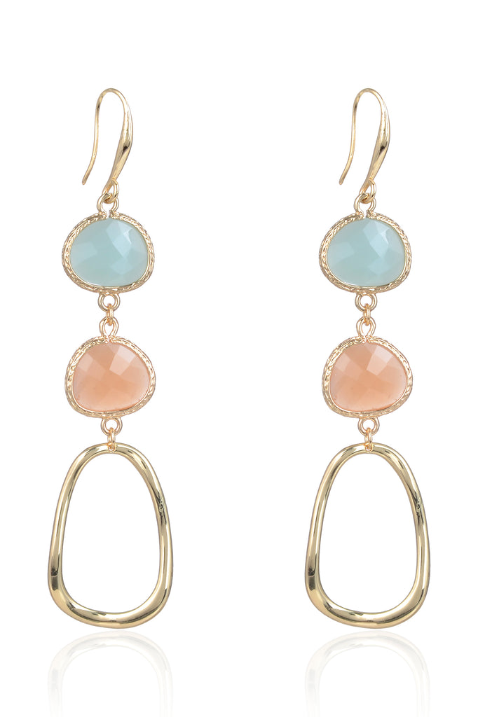 Abilene Earrings - Teal/Pink