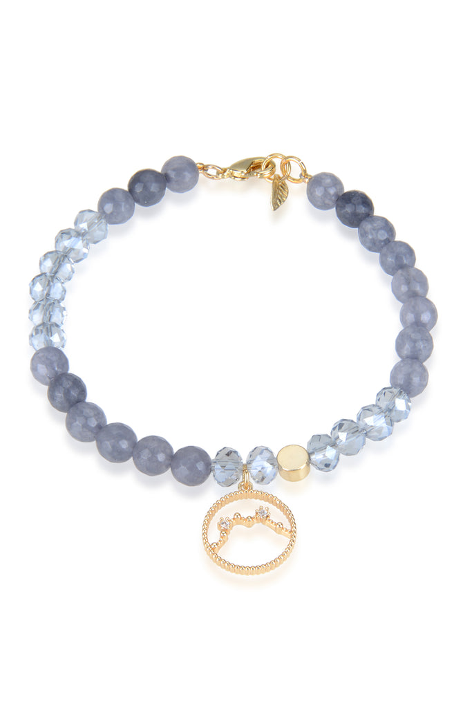 Beaded Bracelet: Aquarius