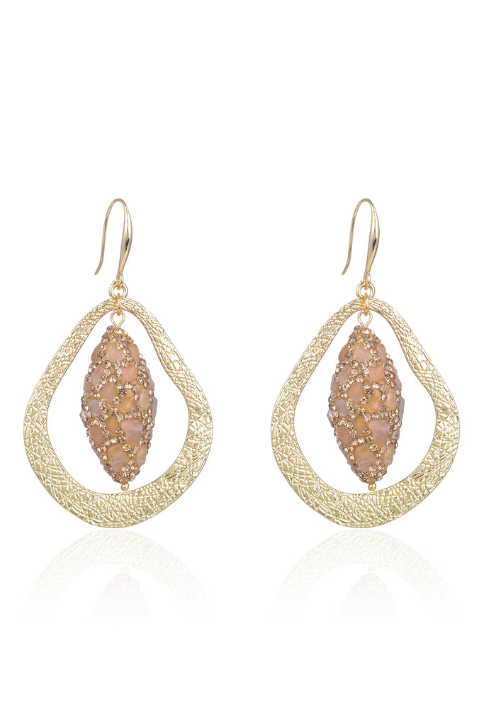 Meg Earrings - Blush