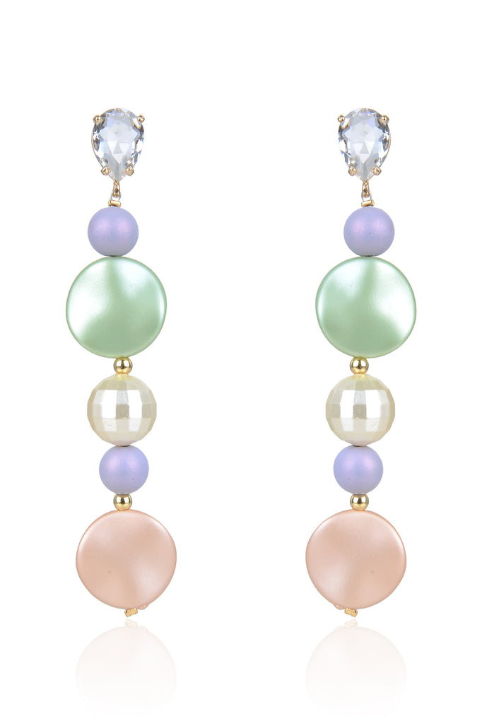 Alcott Earrings - Pink/Green