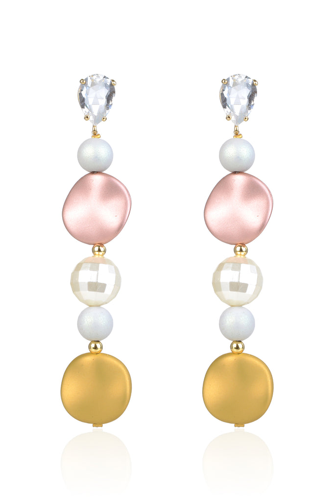 Alcott Earrings - Yellow/Pink