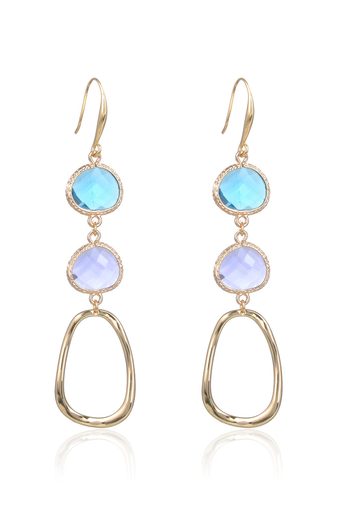 Abilene Earrings - Teal/Purple