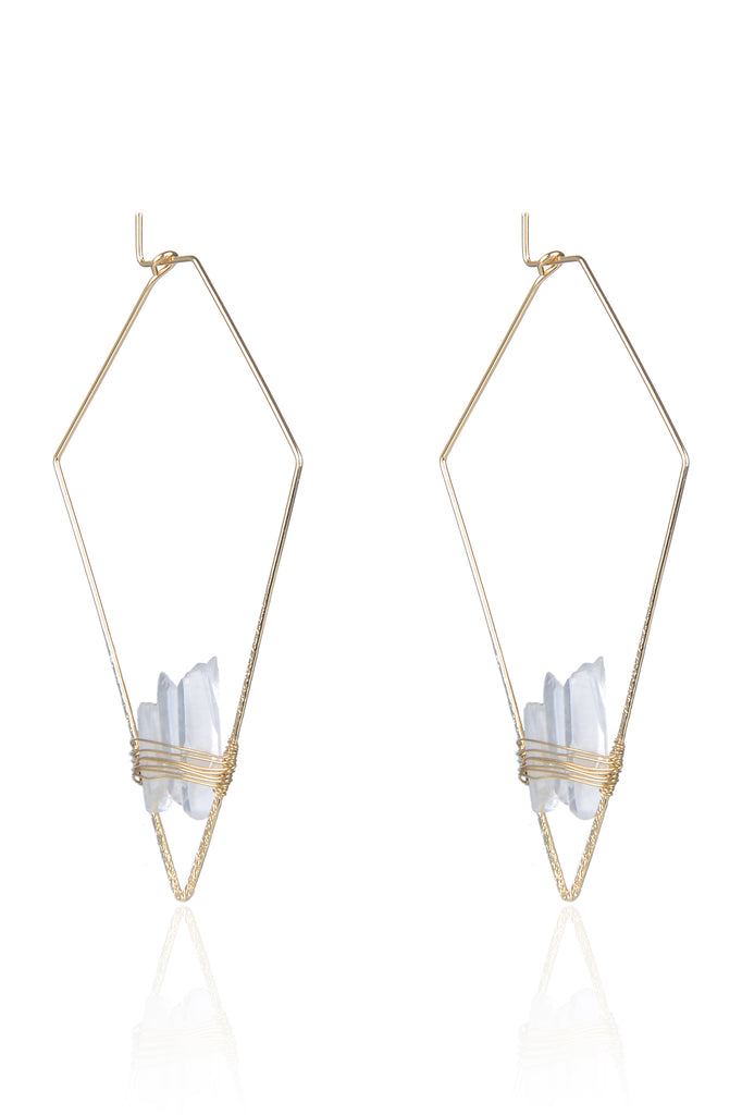 Kite Quartz Earrings