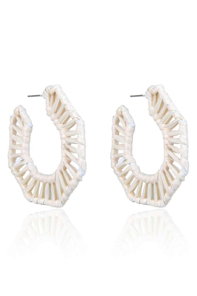 Arvede Earrings - White