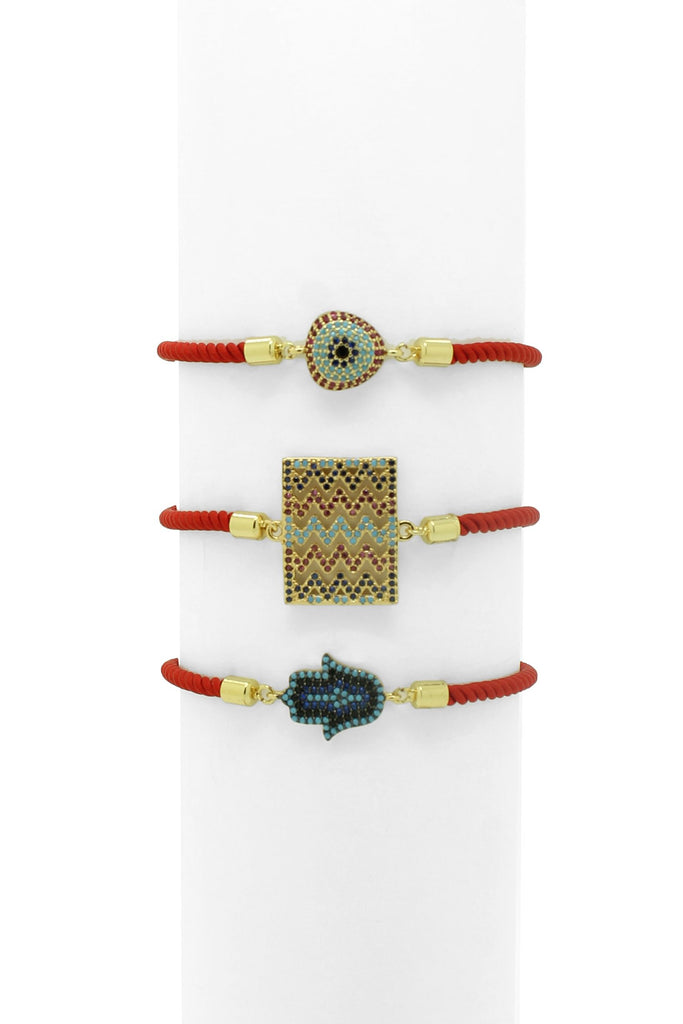 Harraz Red Cord Adjustable Bracelet