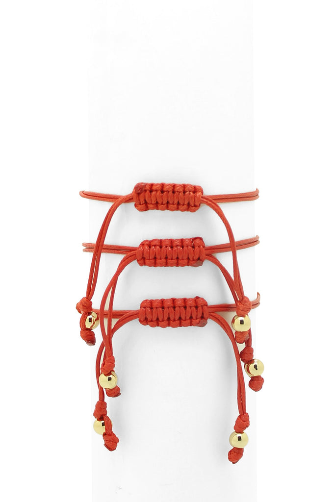 Amelia Red Hamsa Angle Wing Bracelet Set