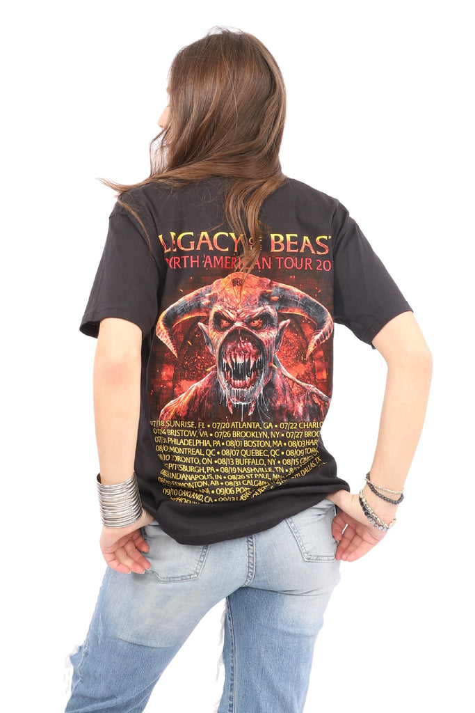 Iron Maiden  T-Shirt - Legacy of the Beast Tour - Black