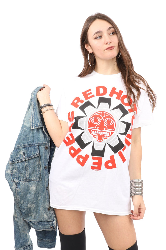 Red Hot Chili Peppers T-Shirt - Aztec Logo - White