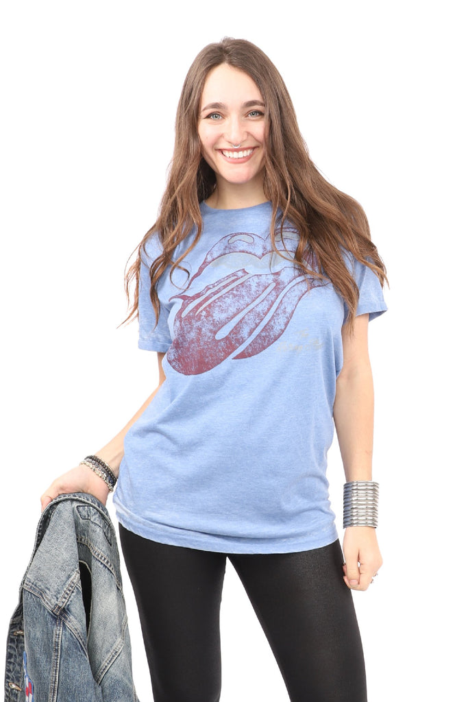 Rolling Stones T-Shirt - Tongue - Blue