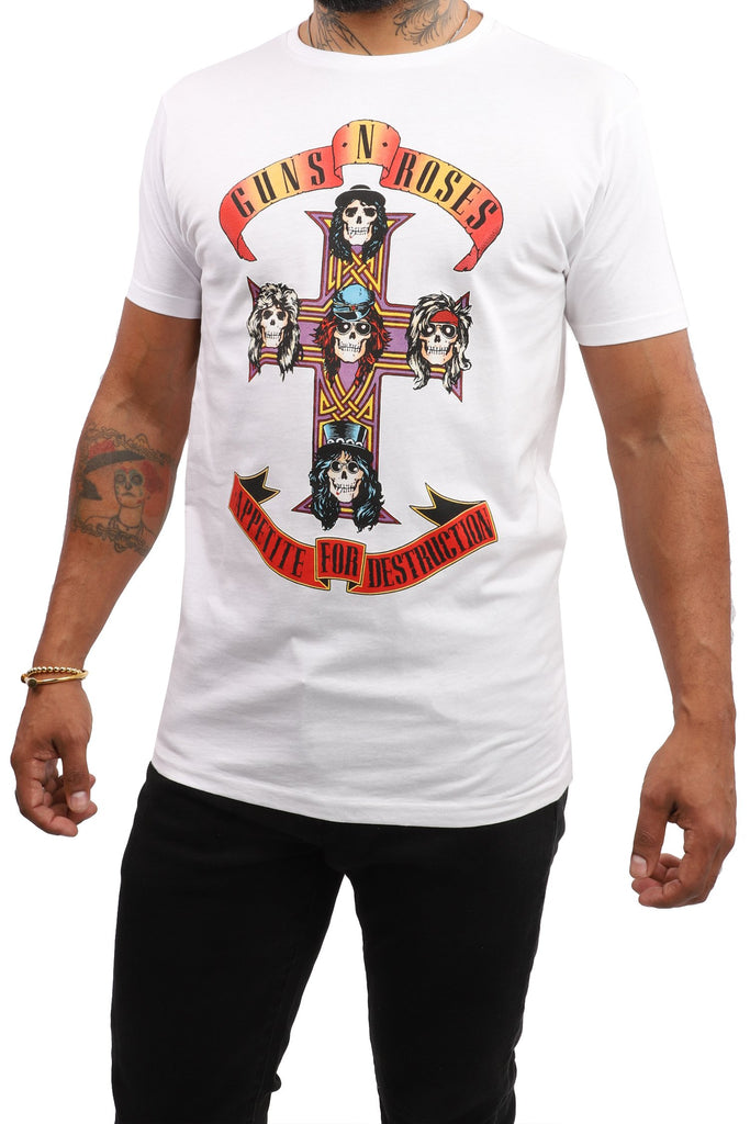 Guns 'N' Roses T-Shirt - Appetite for Destruction - White