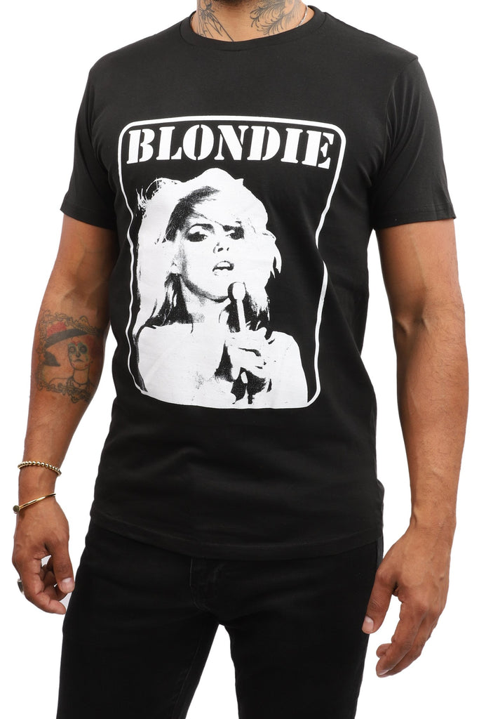 Blondie T-Shirt - Debbie Harry Singing - Black