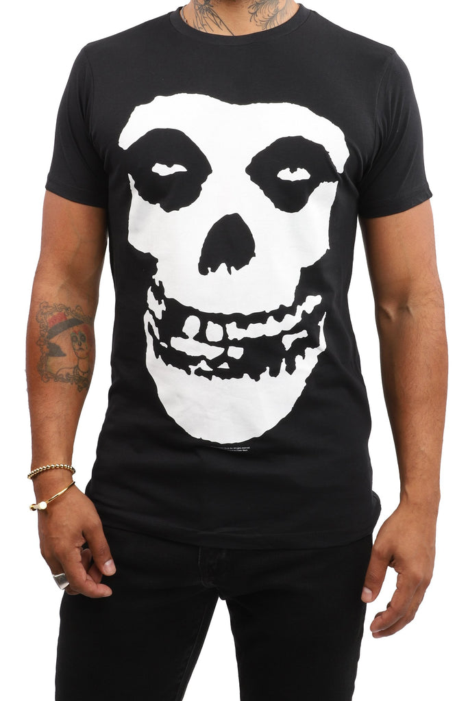 Misfits T-Shirt - Black and White Logo - Black