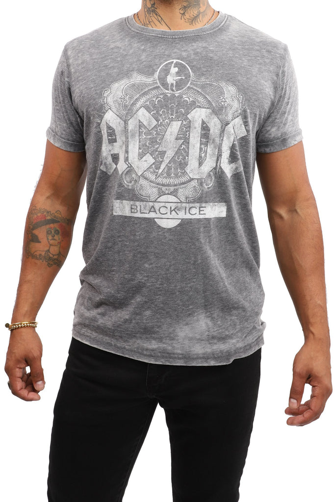 AC/DC Black Ice T-Shirt - Grey
