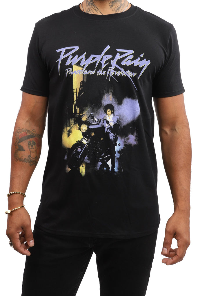 Prince T-Shirt - Purple Rain - Black