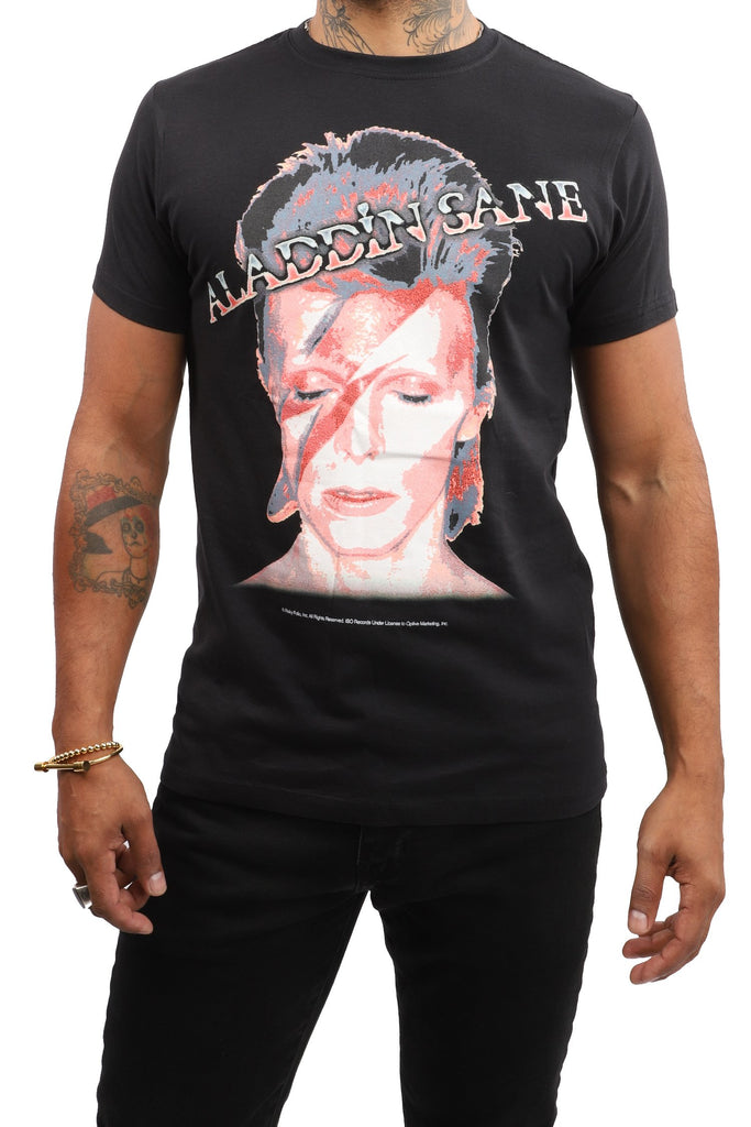 David Bowie T-Shirt - Aladdin Sane - Black