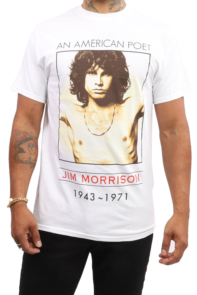 The Doors T-Shirt - An American Poet - White