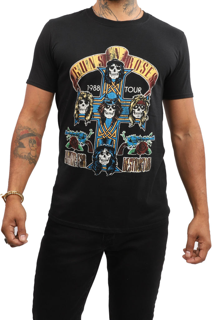 Guns 'N' Roses T-Shirt - Appetite for Destruction 1988 Tour - Black