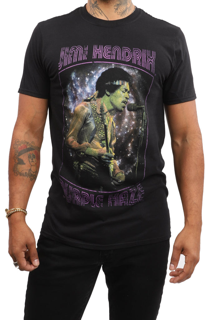 Jimi Hendrix T-Shirt - Purple Haze - Black