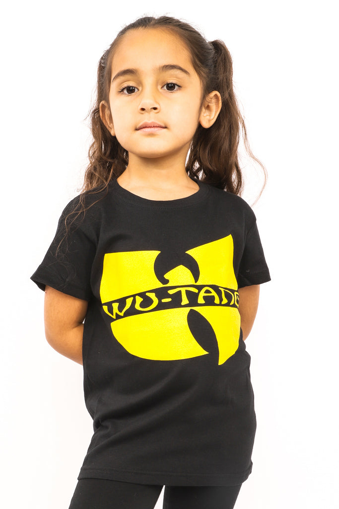 Kid's Wu Tang Clan T-Shirt - Logo - Black (Boys and Girls)